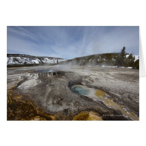 Yellowstone is famous for its geothermal card