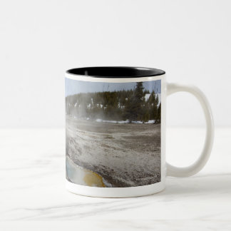 Yellowstone is famous for its geothermal Two-Tone coffee mug