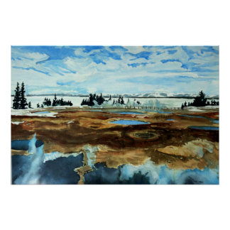 Yellowstone Lake in Winter Poster
