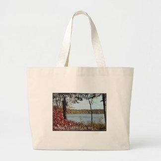 Yellowstone Lake State Park Logo Large Tote Bag