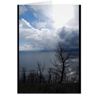 Yellowstone Lake Sunset Card
