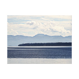 Yellowstone Lake, West Thumb View Canvas Print