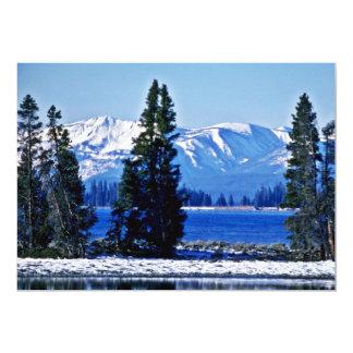 "Yellowstone Lake - Yellowstone National Park 5"" X 7"" Invitation Card"