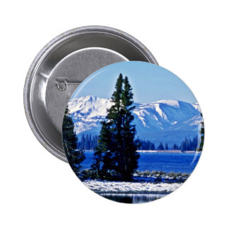 Yellowstone Lake - Yellowstone National Park Pinback Button