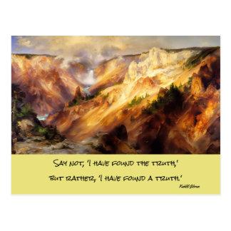 yellowstone landscape postcard