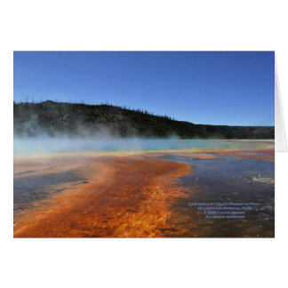 Yellowstone -- Low Angle of Grand Prismatc Pool Card