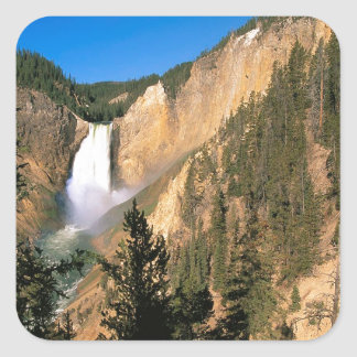 Yellowstone Lower Falls Wyoming Square Sticker