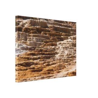 Yellowstone Mammoth Hot Springs abstracta Impresión De Lienzo