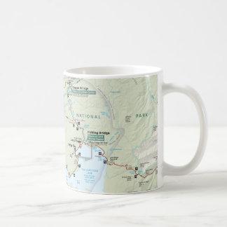 Yellowstone map mug