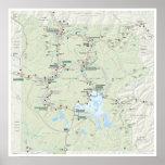Yellowstone map poster