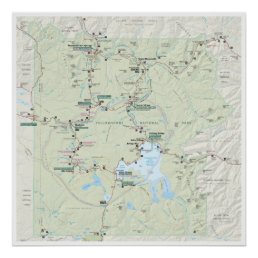 Yellowstone map poster