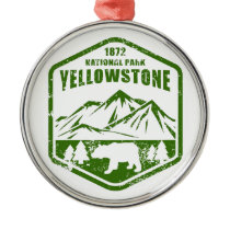 Yellowstone Metal Ornament