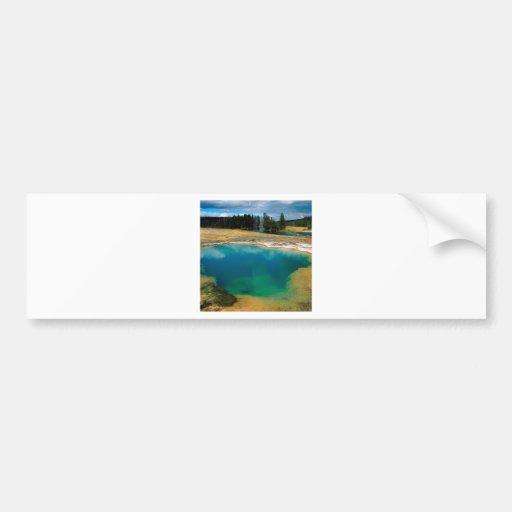 Yellowstone Morning Glory Pool Wyoming Bumper Stickers