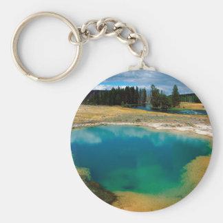 Yellowstone Morning Glory Pool Wyoming Keychains