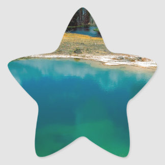 Yellowstone Morning Glory Pool Wyoming Star Sticker