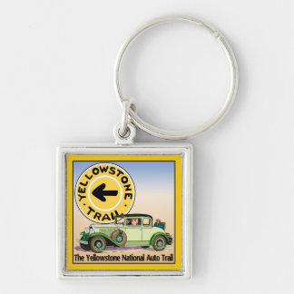 Yellowstone National Auto Trail Keychains