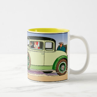 Yellowstone National Auto Trail Two-Tone Coffee Mug