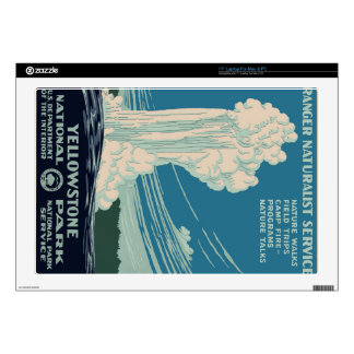 """Yellowstone National Park 17"""" Laptop Decal"""