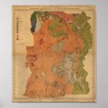 Yellowstone National Park 1878 Geologic Survey Map Poster