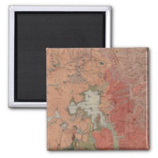Yellowstone National Park 2 Inch Square Magnet