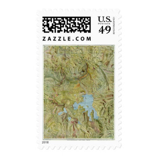 Yellowstone National Park 2 Postage Stamps