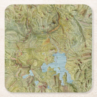 Yellowstone National Park 2 Square Paper Coaster