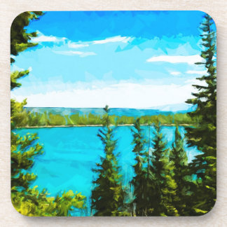 Yellowstone National Park Abstract Impressionism Drink Coaster