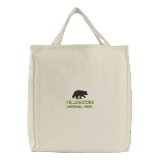 Yellowstone National Park Bear Embroidered Tote Bag