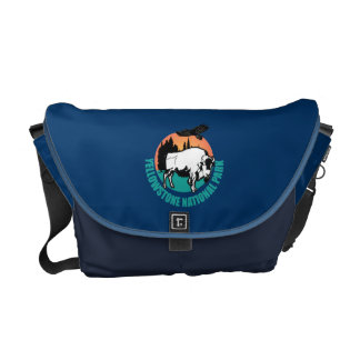 Yellowstone National Park Bison Courier Bag