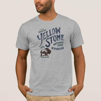 Yellowstone National Park Bison Wyoming Shirt