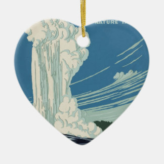 Yellowstone National Park Ceramic Ornament