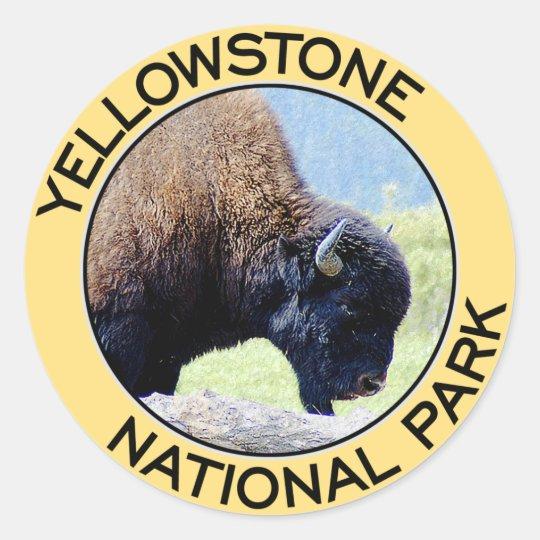 Yellowstone National Park Classic Round Sticker