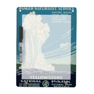 Yellowstone National Park Dry Erase Board