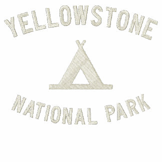 Yellowstone National Park Embroidered Hooded Sweatshirt