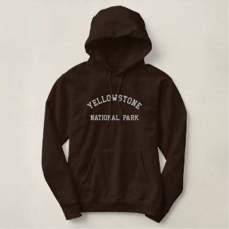 Yellowstone National Park Embroidered Hoodie
