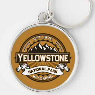 Yellowstone National Park Golden Yellow Logo Keychains