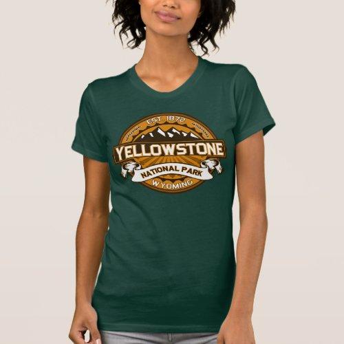 Yellowstone National Park Golden Yellow Logo T-Shirt