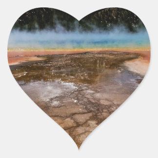 YELLOWSTONE NATIONAL PARK, GRAND PRISMATIC HEART STICKER