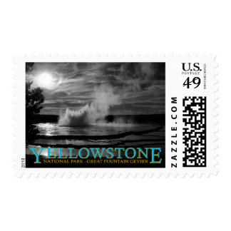 Yellowstone National Park Great Fountain Geyser Postage