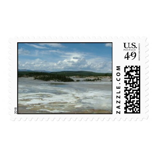 Yellowstone National Park hot land, geyser Postage
