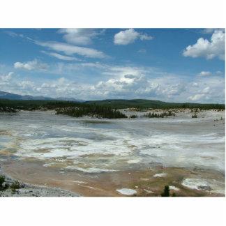 Yellowstone National Park hot land, geyser Statuette