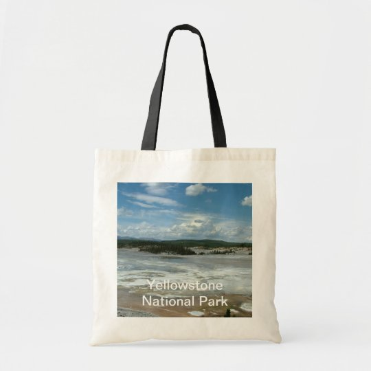 Yellowstone National Park hot land, geyser Tote Bag