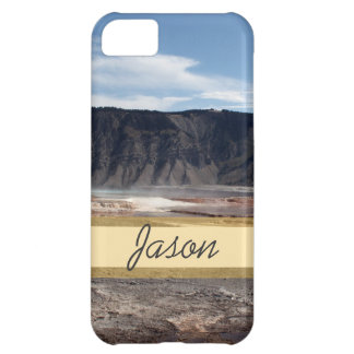 Yellowstone National Park hot spring land Cover For iPhone 5C