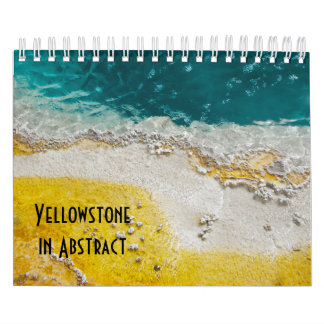 Yellowstone National Park in Abstract Calendar