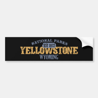 Yellowstone National Park in National Park Bumper Sticker
