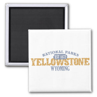 Yellowstone National Park in National Park 2 Inch Square Magnet
