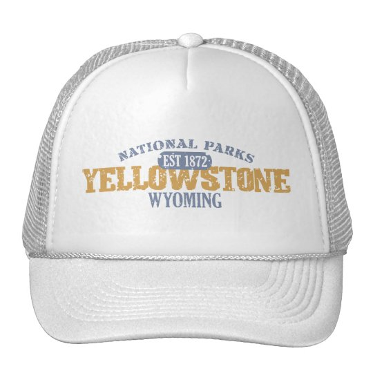 Yellowstone National Park in National Park Trucker Hat