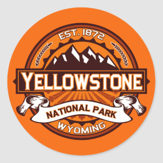 Yellowstone National Park Logo Classic Round Sticker