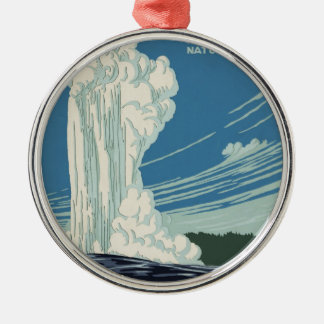 Yellowstone National Park Metal Ornament