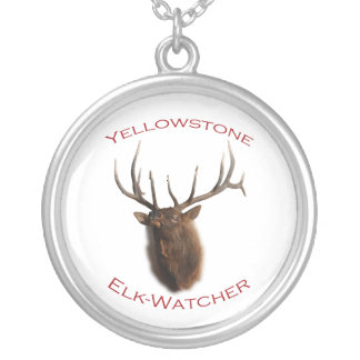 Yellowstone National Park Round Pendant Necklace